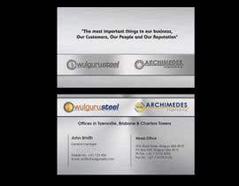 #73 untuk Business Card Design for Wulguru Group - incorporates Wulguru Steel & Archimedes Engineering oleh lihia