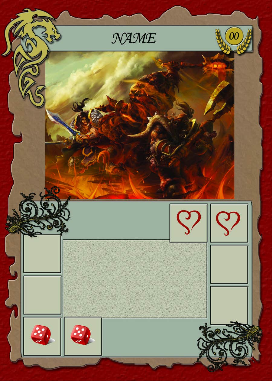 entry 36 by julianmatiz1 for create a fantasy card game template
