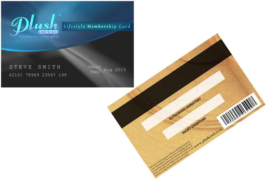 Contest Entry #                                        15                                      for                                         Loyalty Card Redesign for Plush Card (Pty) Ltd