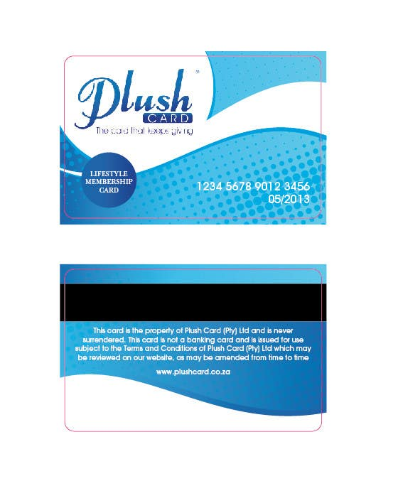 Contest Entry #                                        22                                      for                                         Loyalty Card Redesign for Plush Card (Pty) Ltd