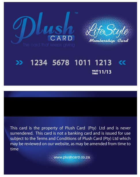 Contest Entry #                                        30                                      for                                         Loyalty Card Redesign for Plush Card (Pty) Ltd