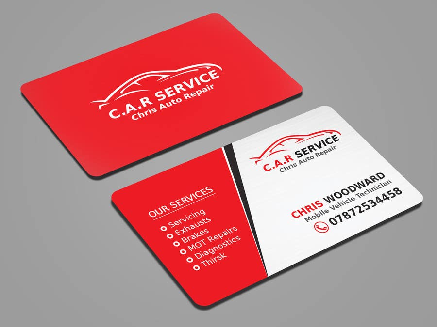 Entry #41 by mahmudkhan44 for Design car mechanic business card ...