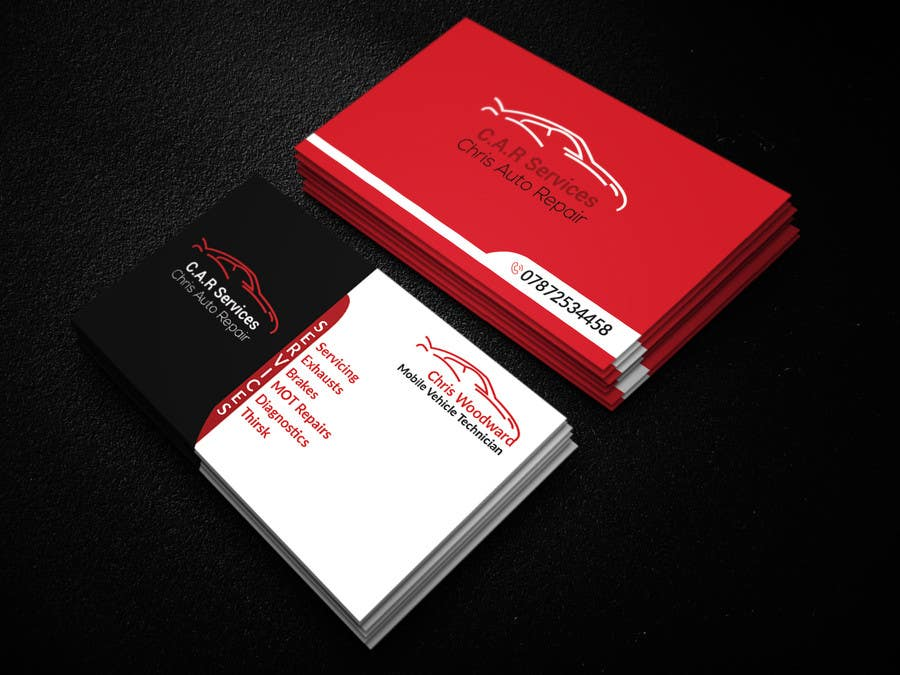 Entry #45 by NayeemaSiddiqua for Design car mechanic business card ...