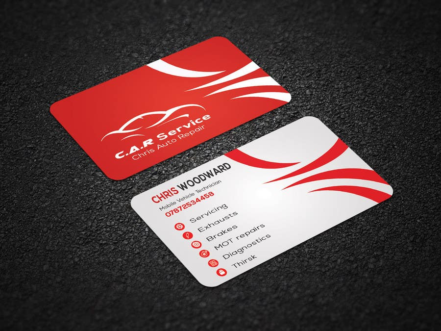 Entry #64 by SIFATdesigner for Design car mechanic business card ...