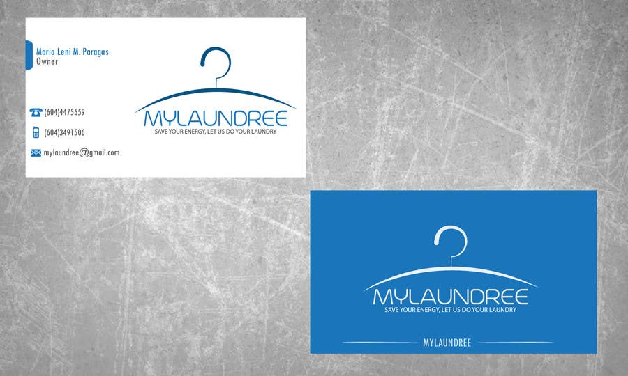 Entry #4 by creativeshadow for Business Card for my new Laundry ...