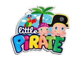 #131 untuk Logo Design for a baby shop - Nice pirates with a Cartoon style, fun and modern oleh tarakbr