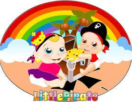 #101 untuk Logo Design for a baby shop - Nice pirates with a Cartoon style, fun and modern oleh Bert671