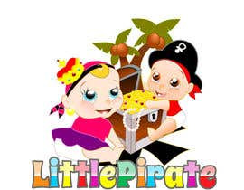 #116 untuk Logo Design for a baby shop - Nice pirates with a Cartoon style, fun and modern oleh Bert671