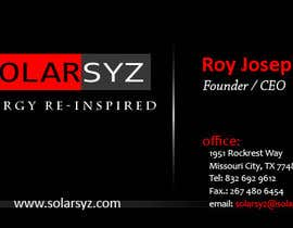 #6 para Business Card Design for SolarSyz por yanwarpro