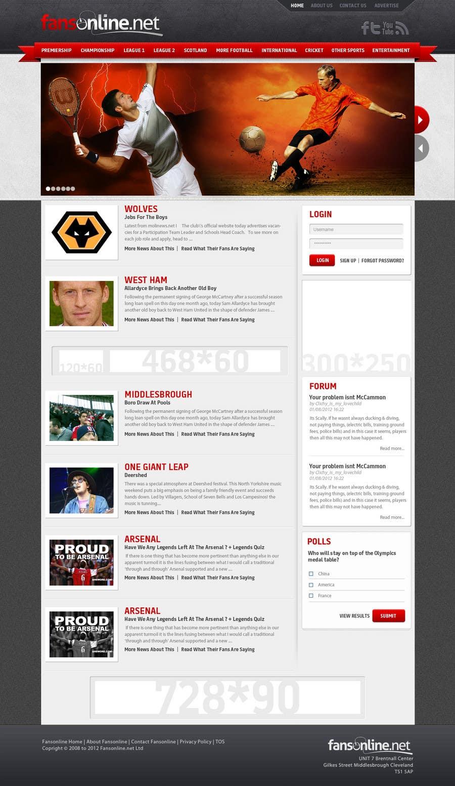 Bài tham dự cuộc thi #                                        26                                      cho                                         Website Design for FansOnline.net Ltd