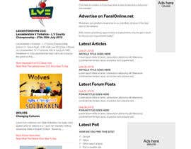 nº 7 pour Website Design for FansOnline.net Ltd par gerardway