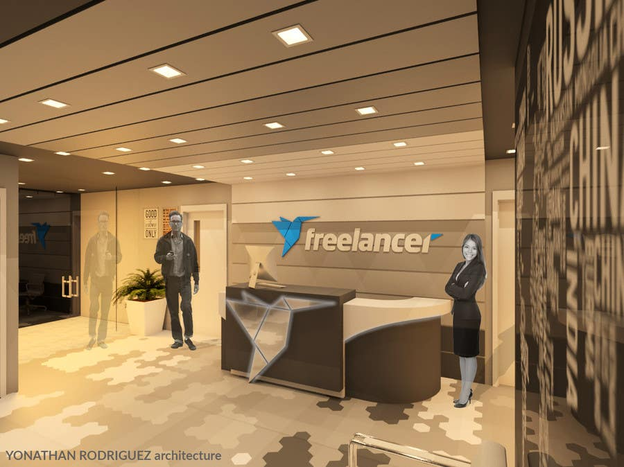 Entry 14 by arqyonathan for 3D Design of Freelancer fice