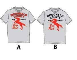 tjayart tarafından Mustangs spiritwear shirt için no 12