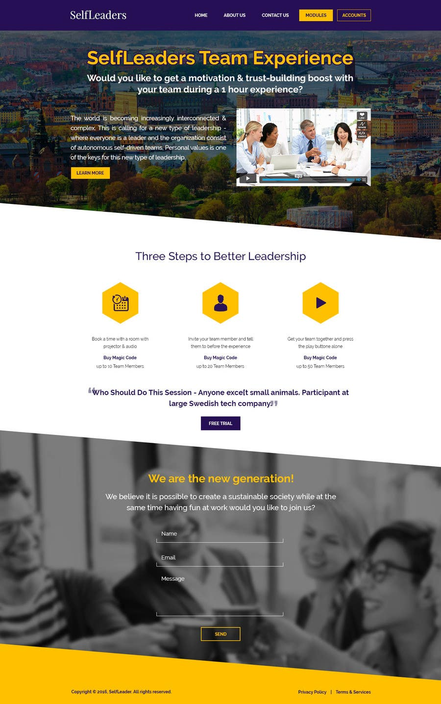 Entry #52 by doodlehint for Team Experience Website: Update design
