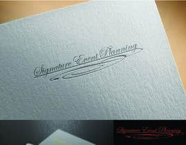 nº 35 pour Design a Very Professional logo ( I Will Award Fast) Signature Event Planning par condemi701