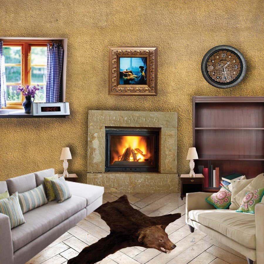Inscrição nº                                         2                                      do Concurso para                                         Transform a bad hand drawing into a quality graphic-Two Living Rooms (2 styles:Log Cabin and Modern)