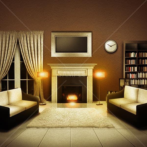Inscrição nº                                         12                                      do Concurso para                                         Transform a bad hand drawing into a quality graphic-Two Living Rooms (2 styles:Log Cabin and Modern)