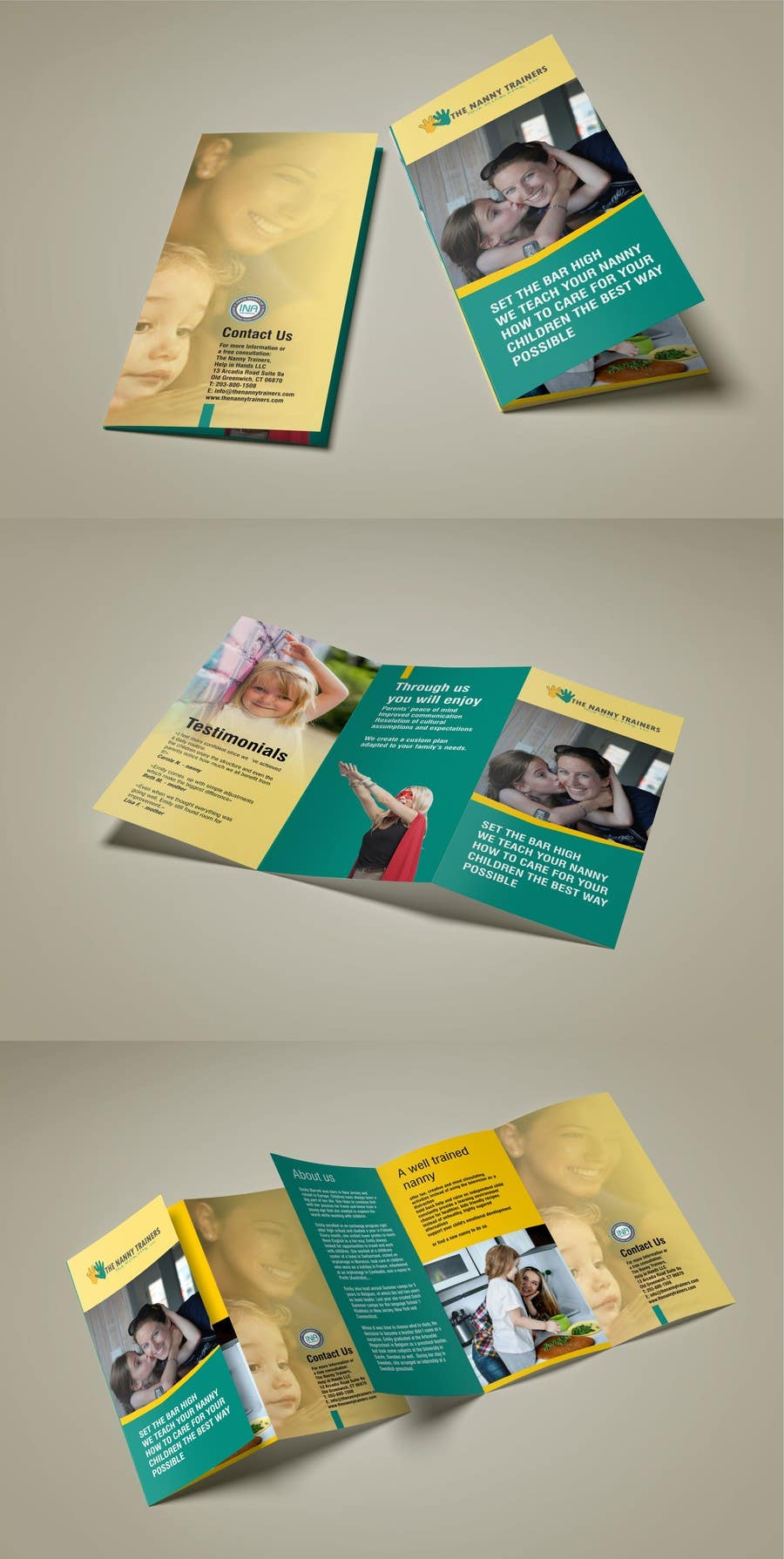 Entry 37 by mohdbabah for design a brochure for the nanny for The nanny house layout