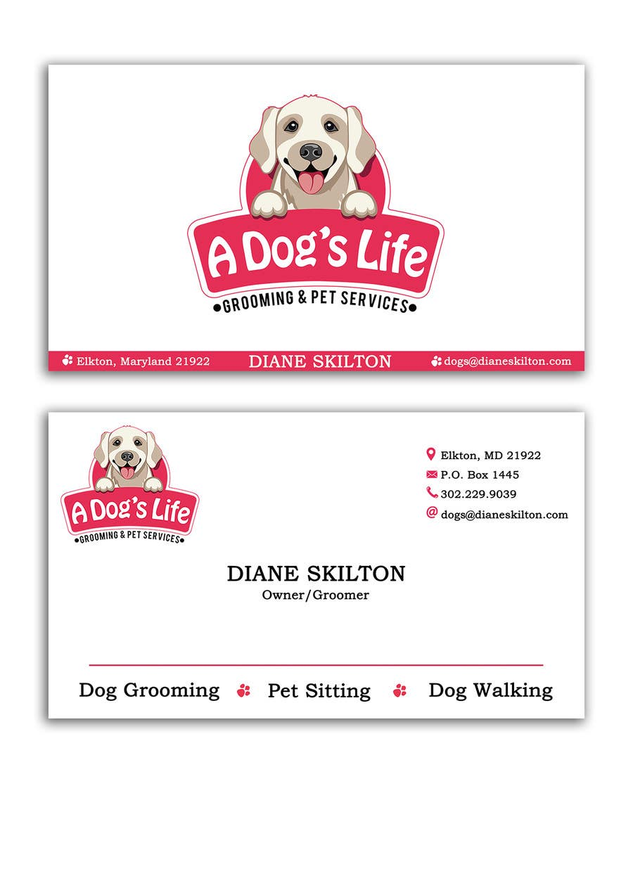 Entry 116 By Leandrofaccio For Design Business Cards Pet Services