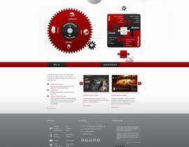 nº 8 pour Website home page (DESIGN ONLY, no implementation required), including custom vector graphic creation. par Wecraft