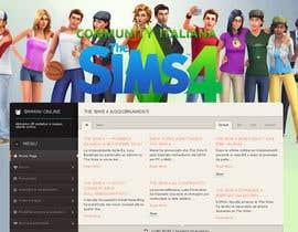 program23 tarafından Design a Logo and background for The Sims 4 thesims4.it için no 51