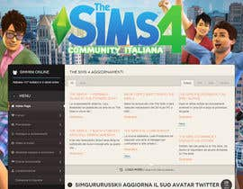 aminou1 tarafından Design a Logo and background for The Sims 4 thesims4.it için no 53