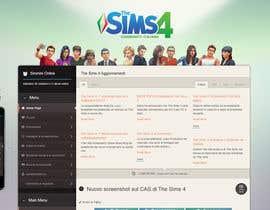 dero123 tarafından Design a Logo and background for The Sims 4 thesims4.it için no 35