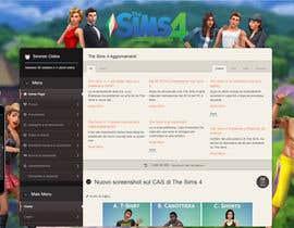 dero123 tarafından Design a Logo and background for The Sims 4 thesims4.it için no 36