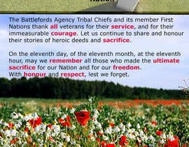 """#1 para Design a Remembrance Day ad for a First Nations entity. (10"""" wide x 16"""" height) por jaredbrewer9"""