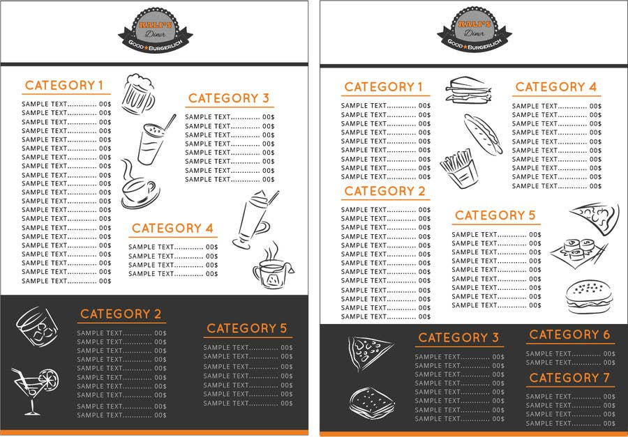 entry 29 by mahaayash for i need some graphic design menu card