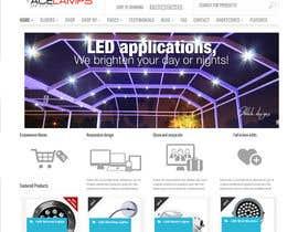 #3 for Design a new hompage for a lighting company website af ChrisBs
