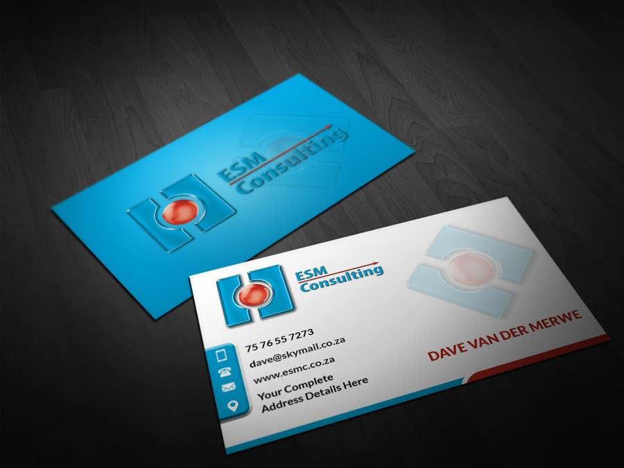 Bài tham dự cuộc thi #                                        21                                      cho                                         Design Business Cards for ESM Consulting