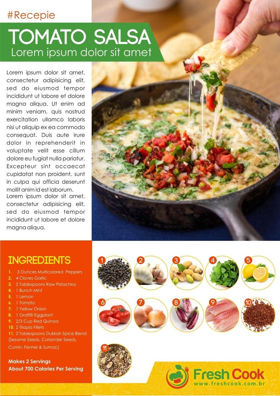 recipe poster template