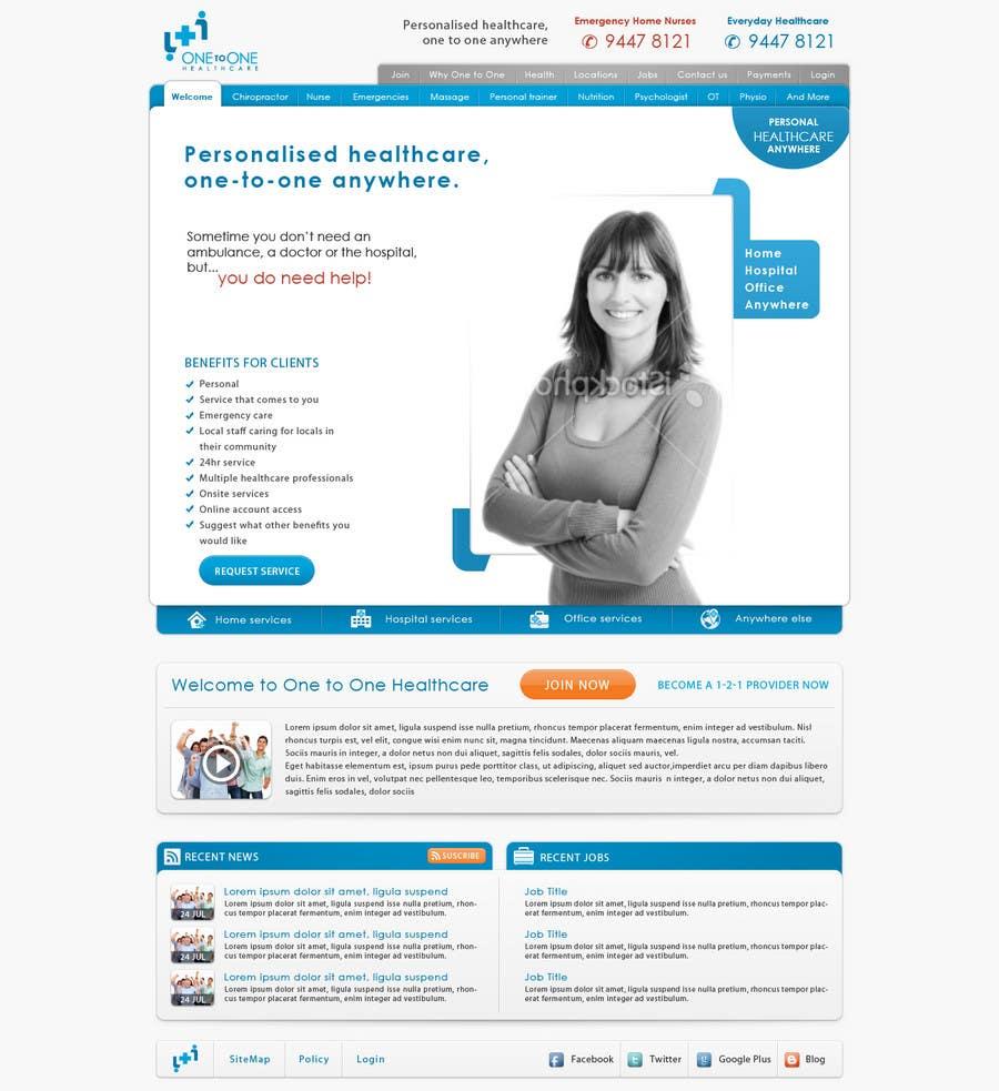 Inscrição nº                                         126                                      do Concurso para                                         WEBPAGE FINISH OFF Design based on already designed layout