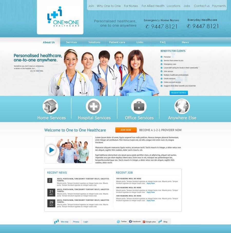Konkurrenceindlæg #                                        56                                      for                                         WEBPAGE FINISH OFF Design based on already designed layout