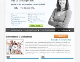 nº 127 pour WEBPAGE FINISH OFF Design based on already designed layout par creativeabdullah