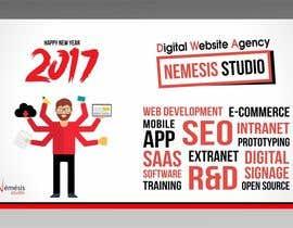 nº 22 pour Creating a corporate 2017 greeting card for digital agency par Shrey0017