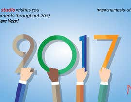 nº 5 pour Creating a corporate 2017 greeting card for digital agency par vanv4n