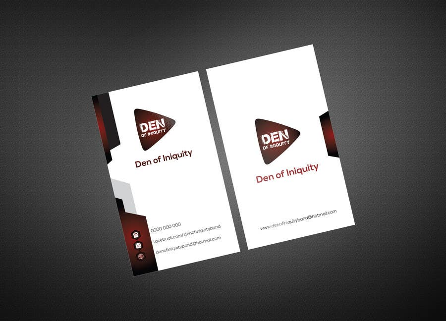 Entry #65 by aksghs for Design Some Business Cards - Rock Band - Den ...