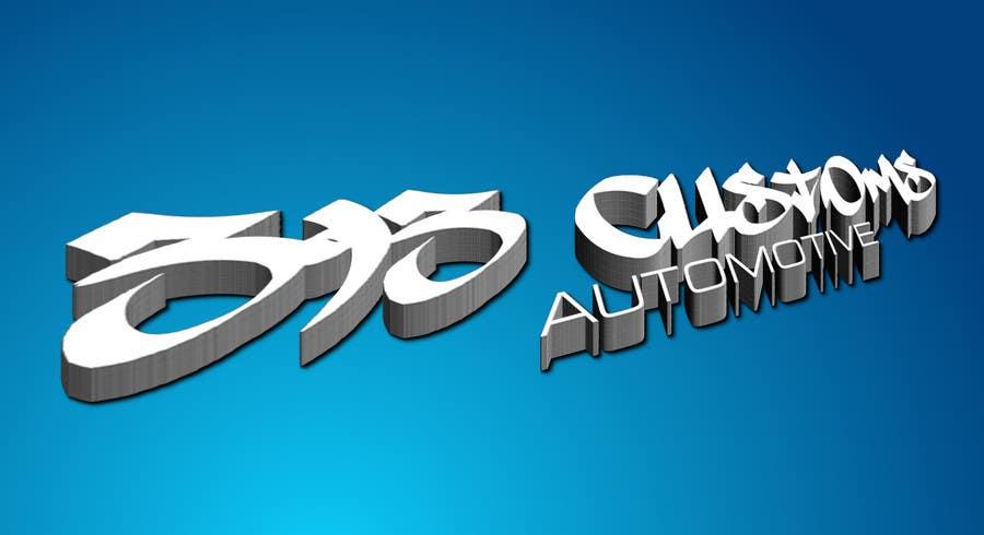 Kilpailutyö #173 kilpailussa Logo Design for 393 CUSTOMS