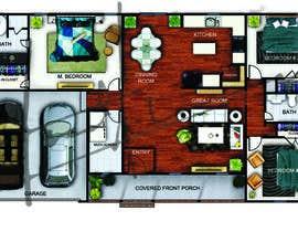 asadahmed07 tarafından Turn new home construction drawings into a marketing sheet for a home plan için no 29