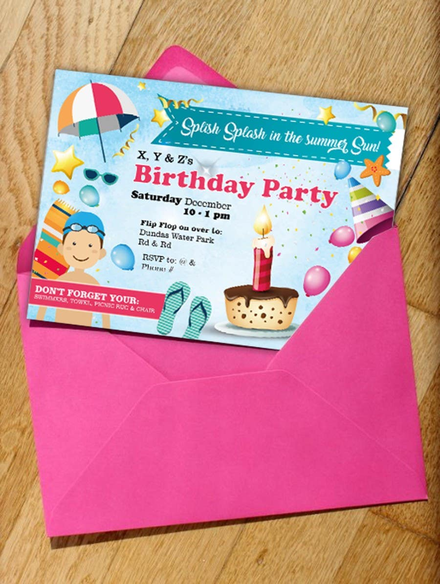 Contest Entry 4 For 6th Birthday Party Invitations