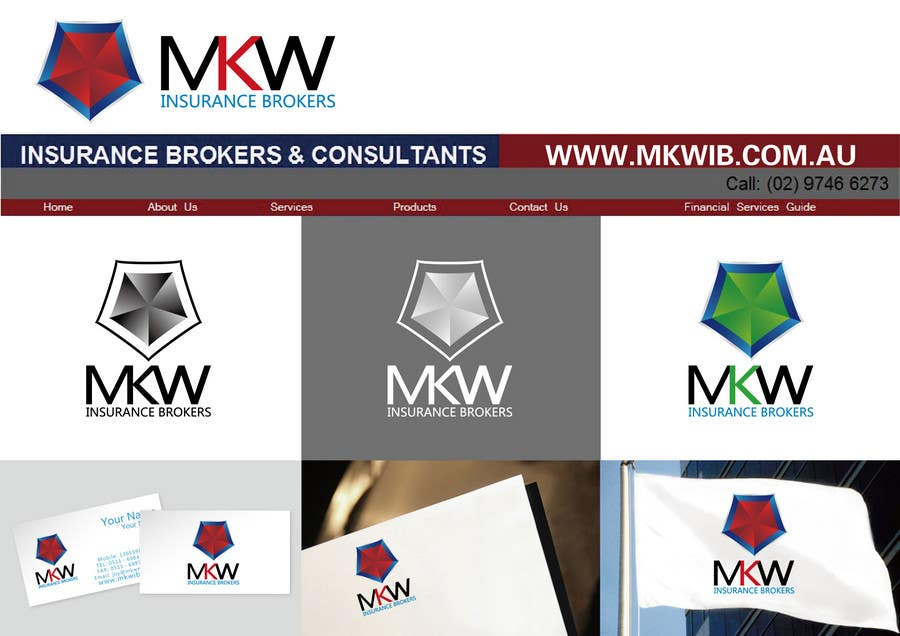 Konkurrenceindlæg #372 for Logo Design for MKW Insurance Brokers  (replacing www.wiblininsurancebrokers.com.au)