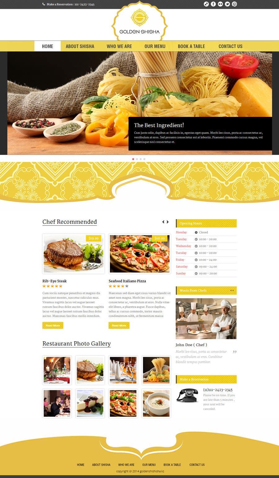 Inscrição nº                                         33                                      do Concurso para                                         Создание веб-сайта for the thegoldenshisha.com