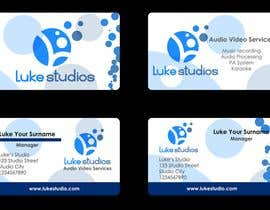 #89 para Business Card Design for Luke's Studio de SallyHopkins