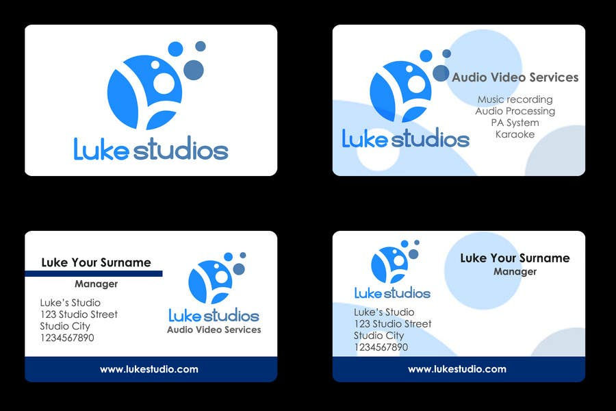 Participación en el concurso Nro.88 para Business Card Design for Luke's Studio