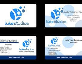 #88 for Business Card Design for Luke's Studio af SallyHopkins