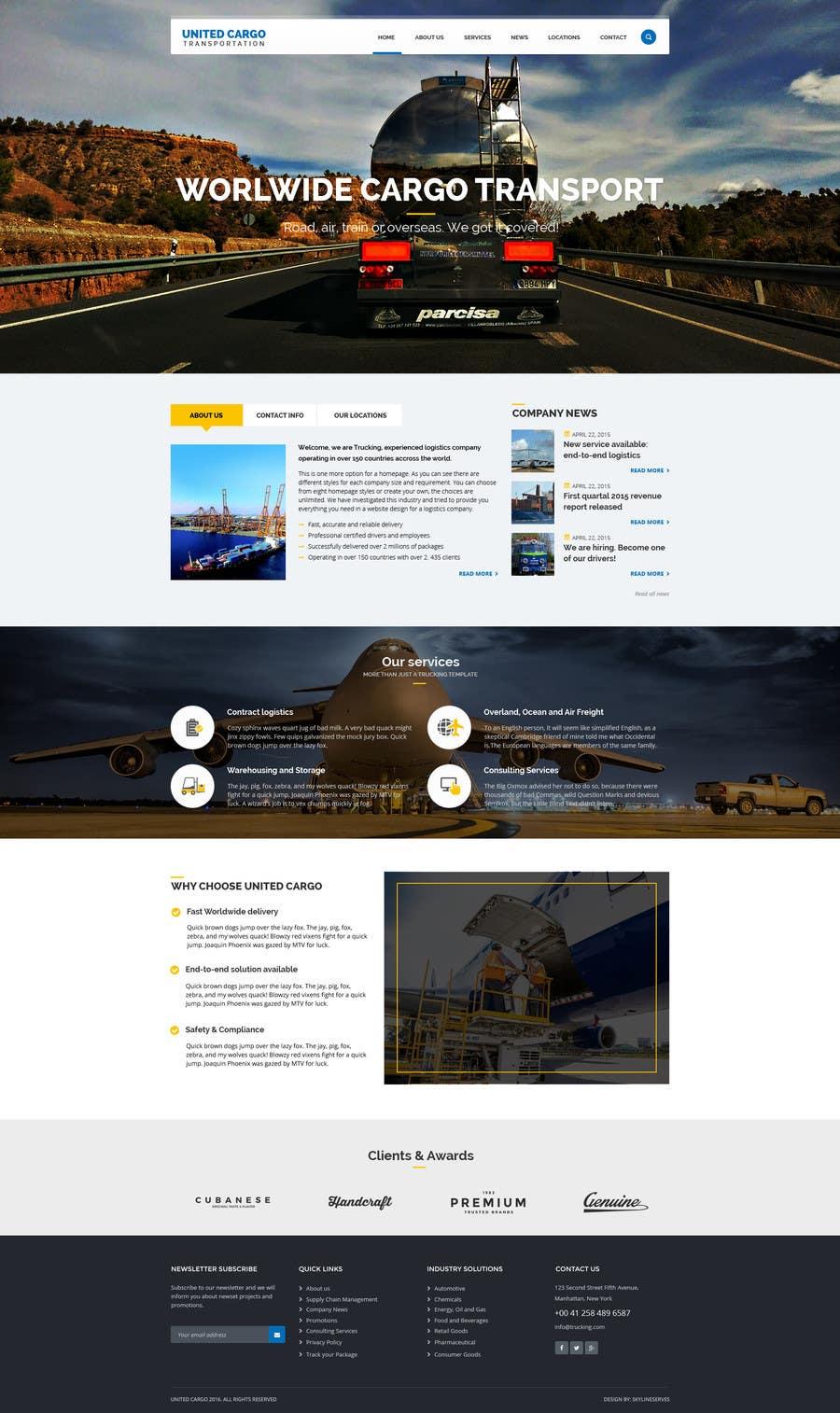 Entry #9 by SkylineServes for Website Mock Up United Cargo