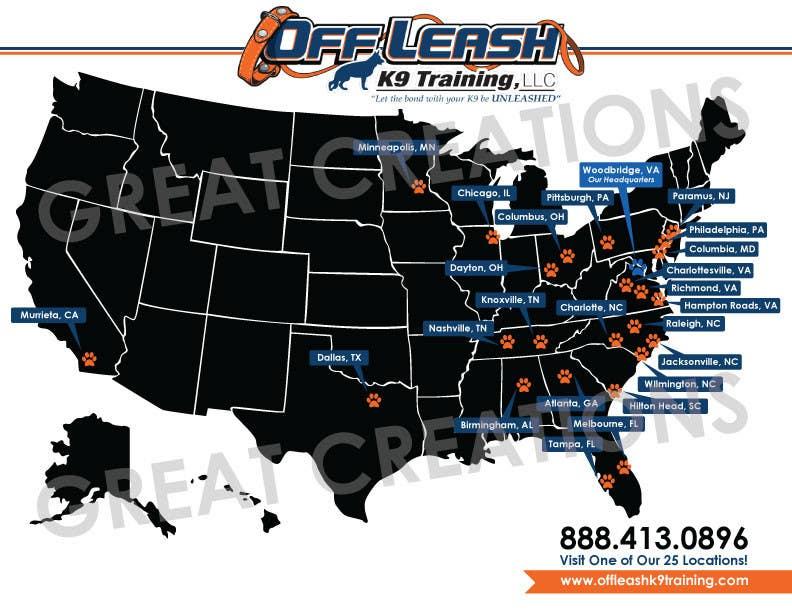 Inscrição nº 4 do Concurso para Design a Map Of Dog Training Locations