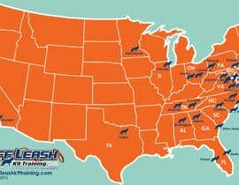 #13 para Design a Map Of Dog Training Locations por selabby